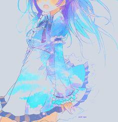 Image via We Heart It [animated] Loli Kawaii, Kawaii Anime Girl, Kawaii Art, Anime Girls, Pretty Anime Girl, Beautiful Anime Girl, I Love Anime, Anime Galaxy, Galaxy Art
