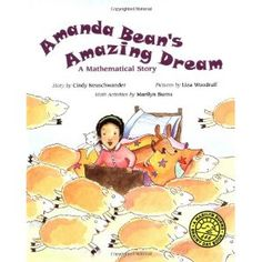 Amanda Bean's Amazing Dream (Marilyn Burns Brainy Day Books): Amanda Bean loves to count. But sometimes she can't count fast enough. Her teacher tells her that multiplying will help but Amanda is not convinced -- until she has an amazing dream. Division Activities, Multiplication Activities, Math Activities, Numeracy, Maths, Math Rotations, Math Games, Math Literature, Math Books