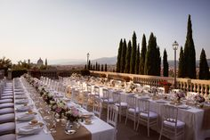 Imperials Table and stunning view of Florence http://www.alessiabweddings.com/
