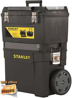 Mobile Tool Chest Box Stanley Portable Tools Organiser Trolley Work Storage Case #MobileToolChestBox