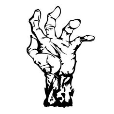 Zombie Hand Die Cut Vinyl Decal PV542 for Windows, Vehicle Windows, Vehicle Body Surfaces or just about any surface that is smooth and clean!