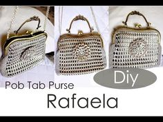 """For a few years not, the idea of making awesome DIY projects with pop tabs has been very """"in"""". Pictures of pop tab clothing have gone viral on the Soda Tab Crafts, Can Tab Crafts, Tape Crafts, Pop Tab Purse, Diy Purse, Pop Top Crafts, Pop Can Tabs, Soda Tabs, Vintage Inspiriert"""