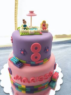 Chocolate/chocolate Lego Friends birthday cake!