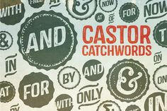 Check out Castor Catchwords by Albatross on Creative Market