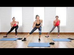 20-Minute Flat Belly and Tight Legs Toning Workout Using Gliders | Class FitSugar - YouTube