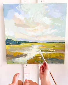 Abstract Landscape Painting, Landscape Art, Landscape Paintings, Landscapes, Abstract Canvas, Palette Knife Painting, Impressionist Paintings, Yellow Painting, Oil Painting On Canvas
