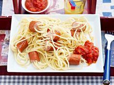 Kochen für Kinder - Wurstspaghetti