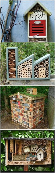 11 Inspirations for Insect Hotels via @1001Gardens