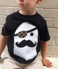 Sweet sprouts boys spooky pirate ghost Halloween shirt
