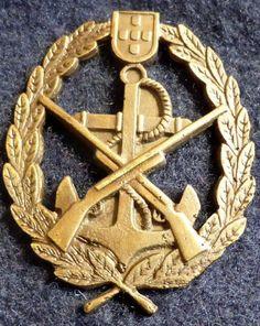 Portuguese military MARINES FUZILEIROS blue beret with badge/insignia