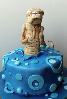 El Laboratorio de las Tartas: Tartas Decoradas Madrid: Tarta Alien Baby - Chestburster cake