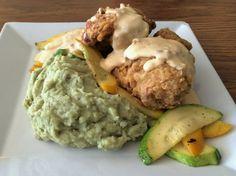 Fried Chicken, Tom Yum Gravy, Thai Basil Mashed Potatoes | Le Mu; Hampton, VA