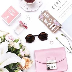 Pretty Flatlay with a Hint of Pink