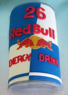 Red Bull Energy Drink Cake