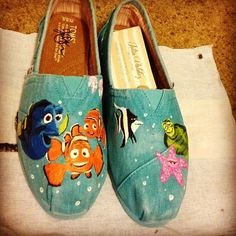 Just keep swimming!! Love me some Walt Swifty Shoes!  Some day I will have my own pair of house shoes!