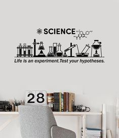 Vinyl Wall Decal Science Inspire Chemical Lab School Classroom Decor Stickers Mural (ig5306) from wallstickers4you. Saved to Buy this ASAP.