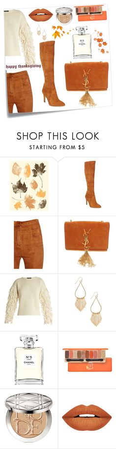 """""""Happy Thanksgiving Outfit"""" by perezbarrios on Polyvore featuring Post-It, Sam Edelman, Balmain, Yves Saint Laurent, Tabula Rasa, Chanel, Christian Dior and Forever 21"""