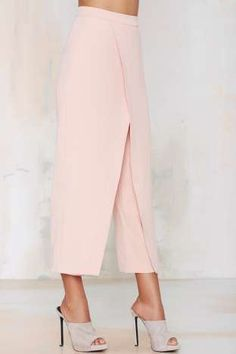 Double Up Layered Trousers - Blush | Shop Clothes at Nasty Gal!