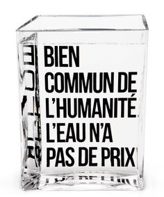 Carafe La Lame d'Eau by Philippe Starck / 50 cl Transparent / Message noir - Made in design Editions