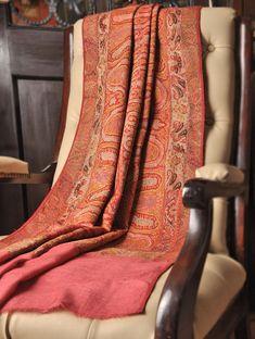 Dulhan Jamawar Pashmina Shawl By Aditi Collection Kashmiri Shawls, Pashmina Shawl, Silk Wool, Scarf Styles, Lady, Hand Weaving, Paisley, Pure Products, Sarees