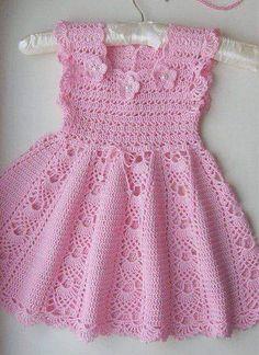Crochet Dress Girl, Crochet Girls, Crochet Baby Clothes, Baby Clothes Patterns, Clothing Patterns, Dress Patterns, Baby Outfits, Toddler Outfits, Kids Frocks Design