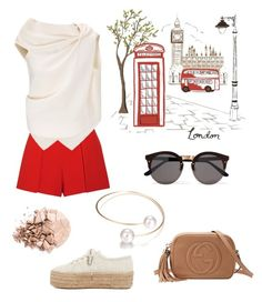 """""""London Calling"""" by lecrindustyle on Polyvore featuring Pottery Barn, Superga, Alice + Olivia, Roland Mouret, Gucci, Illesteva and Anastasia Beverly Hills"""