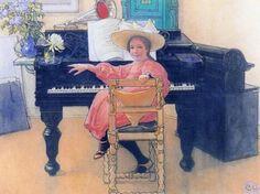 The Future Diva by Carl Larsson (1853 – 1919, Swedish)