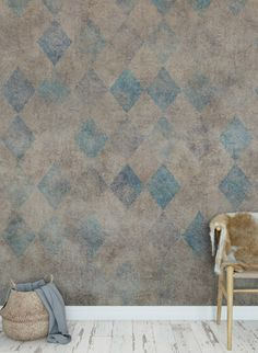 Diamond Wallpaper Patinated Diamonds by Rebel Diamond wallpaper Patinated Diamonds by Rebel Walls Navy Wallpaper, Diamond Wallpaper, Home Wallpaper, Muted Colors, Dark Colors, Inspirational Wallpapers, Can Lights, Paper Houses, Designer Wallpaper
