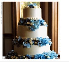 Cake to match hydrangea flowers