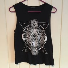 ✨cute urban outfitters boho indie tank top soft, nice fabric. Only worn once by me to try on. Tagged for discovery. OPEN TO OFFERS! Tags; sun, moon, zodiac, urban outfitters, hot topic, brandy melville, vintage, Urban Outfitters Tops Tank Tops
