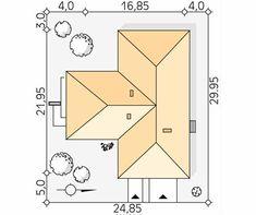 Aksamit 8 projekt domu - Jesteśmy AUTOREM - DOMY w Stylu Plane, House Plans, Villa, Floor Plans, How To Plan, Home Decor, Arquitetura, Cottage, Modern Houses