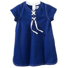 Twill dress with short sleeves - petit bateau~