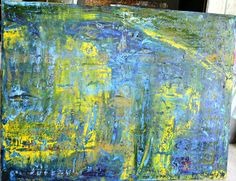 "EVELYN SPATZ OIL PAINTING, INSPIRED BY MR GERHARD RICHTER 36x48"" ORIGINAL #Expressionism"
