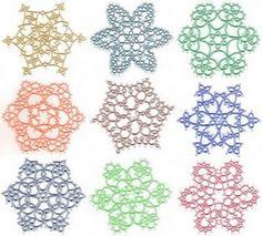 Tatted snowflakes from Jon Yusoff's Elegant Tatting Gems