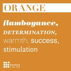 Words That Describe Orange - Sensational Color