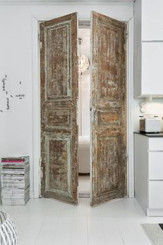 Old doors in new room. Love it.