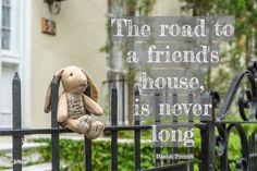 The road to a friend's house. Charleston, SC. #walkingquote. Joan Perry