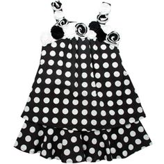 Black and white polka-dots highlight this cute dress from Beetlejuice