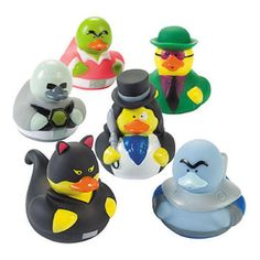 24 Pieces Strong Resistance To Heat And Hard Wearing Fun Express Vinyl Mini Baby Shower Rubber Duckies Bathing Accessories