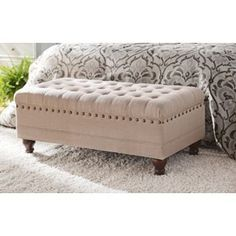 New Tufted Storage Bench Decor Ideas Tufted Storage Bench, Bed Bench, Bench Cushions, Bedroom Storage, Bedroom Benches, Bench Vise, Linen Storage, Ottoman Bench, Rustic Closet