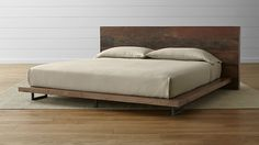 Atwood King Bed without Bookcase Footboard in Atwood Beds | Crate and Barrel