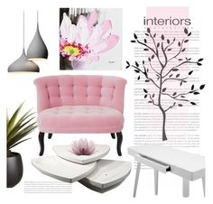 """""""Sitting Room"""" by pattykake ❤ liked on Polyvore featuring interior, interiors, interior design, home, home decor, interior decorating, Brewster Home Fashions, CB2 and The Velvet Chair Company"""