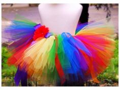 Rainbow Tutu Set  Rainbow Tutu and headband  baby by TrinitysTutus, $25.00