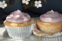 Strawberry-Filled Cardamom Cupcakes..Def trying these. They have good reviews