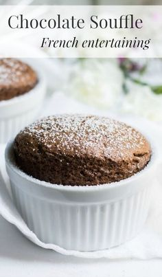 Chocolate Souffle: the quintessential French chocolate dessert. Recipe via MonPetitFour.com