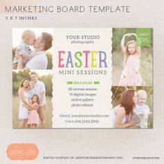 Mini Session Photography Marketing board  Easter by OtoStudio, $7.50