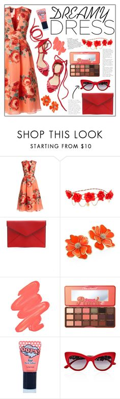 """""""Dreamy Dresses (3)"""" by madeiintheam ❤ liked on Polyvore featuring Lela Rose, claire's, Rebecca Minkoff, Kenneth Jay Lane, Obsessive Compulsive Cosmetics, Too Faced Cosmetics, BERRISOM and Dolce&Gabbana"""