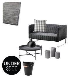 """Grey one @nc4you"" by nc4you on Polyvore featuring interior, interiors, interior design, Zuhause, home decor, interior decorating, livingroom, gray, under500 und NC4you"