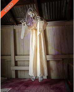 5 Ft Floating Ghost Girl Animatronics - Decorations - Spirithalloween.com