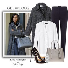 Get the Look: Kerry Washington as Olivia Pope, Winter Style Olivia Pope Outfits, Olivia Pope Style, Olivia Pope Wardrobe, Business Casual Outfits, Classy Outfits, Cool Outfits, Fall Fashion Outfits, Winter Fashion, Winter Office Wear